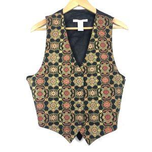 VINTAGE 1990's The Limited Metallic Vest
